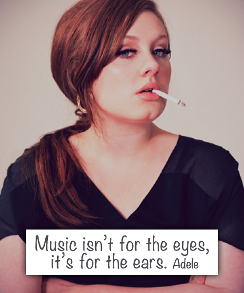 Adele quote about music