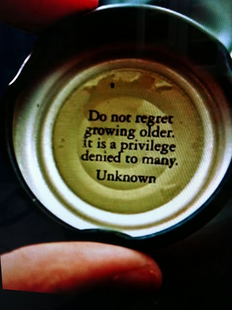 do not regret growing older quote