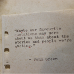 john green about quotes