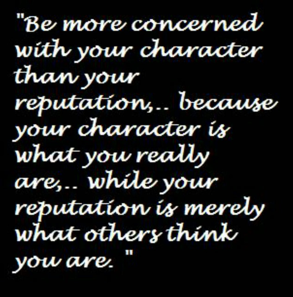 character vs reputation