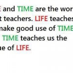 Life and time are th World's best teachers