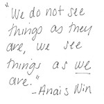 Anais Nin Wise Quote