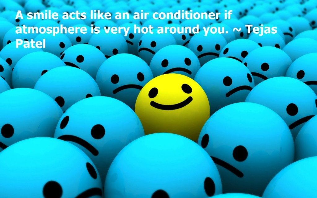 tejas patel smiling quote